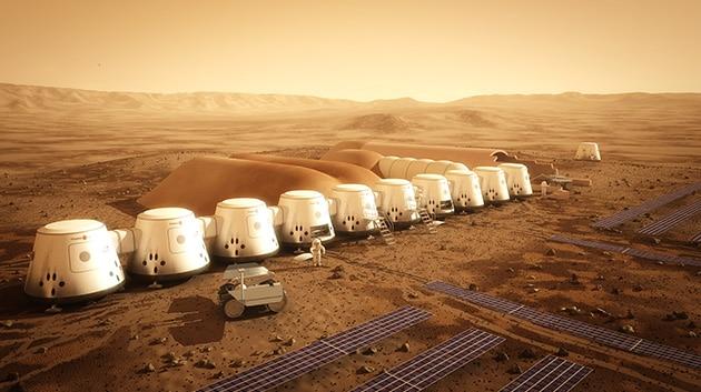 火星コロニーのイメージパースの写真